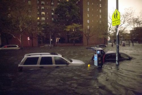 Flooding at 14th Street and Avenue C. (Photographer unknown.)