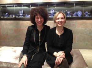 Jewelry designer Karen Karch in her newly opened boutique on Gramercy Park North with company vice president Lisa Tregnaghi