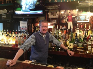 Paddy Maguire at his namesake bar
