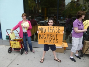 Young resident Karry Kane stands outside the leasing office on Saturday. Photo by Sabina Mollot