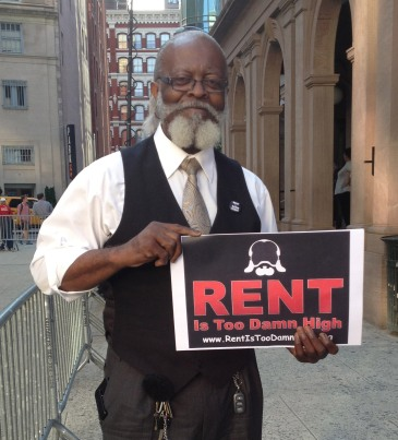 "Jimmy ""The Rent is Too Damn High"" McMillan says his next video will be done ""butt naked"" since his clothing budget will now need to be spent on rent. Photo by Maria Rocha-Buschel"