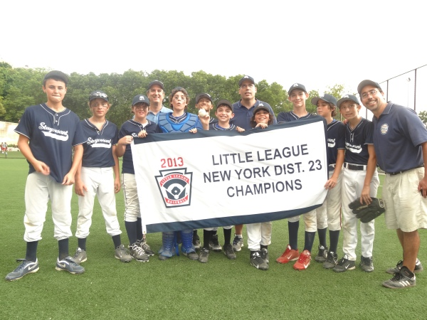 """The Peter Stuyvesant """"Road Warriors"""" won the Little League District 23 Majors Baseball title for the first time in PSLL history in the last week of June.  Photo by Mike Hoernecke"""