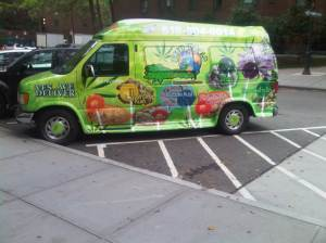 The Weed World Candies van can often be spotted parked in Stuyvesant Town.
