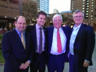 Waterside General Manager Peter Davis, State Senator Brad Hoylman, Richard Ravitch and Assembly Member Brian Kavanagh (Photo by Sabina Mollot)