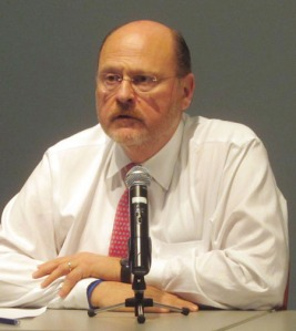 Joe Lhota at a mayoral forum held last year (Photo by Maria Rocha-Buschel)