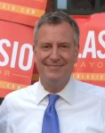 Democratic mayoral candidate Bill de Blasio