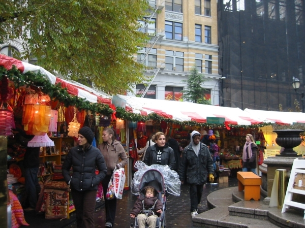 The Union Square Holiday Market, now in its 19th year (Photo by Sabina Mollot)