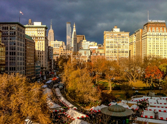 The Union Square Holiday Market (Photo courtesy of Urban Space)