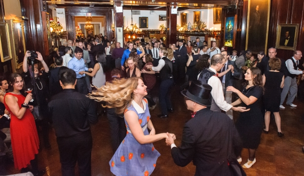 Attendees enjoy the party on the main dance floor. (Photo by Jane Kratochvil)