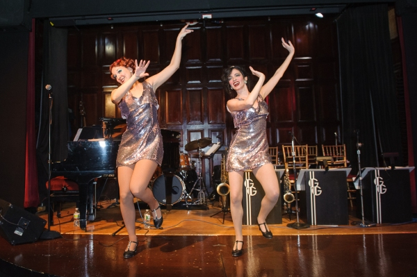 The Minsky Sisters perform a tap dancing routine at The Salon, a 1920s-themed New Year's party that took place at The Players. The Salon events are organized by Stuyvesant Town native Patrick Soluri. (Photo by Jane Kratochvil)