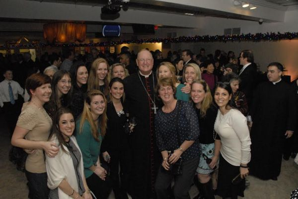 Cardinal Dolan with Epiphany School teachers