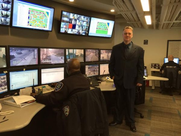Public Safety Chief Bill McClellan at the new office/command center (Photo by Sabina Mollot)