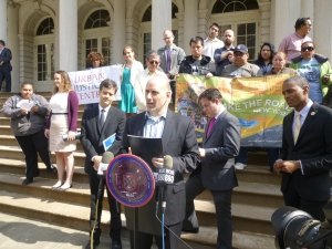 Harvey Epstein of the Urban Justice Center recalled the predatory equity in Stuyvesant Town. (Photo by Sabina Mollot)