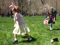 Young residents on the hunt for eggs on the Oval
