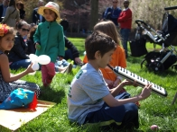 Kids participate in the music-making