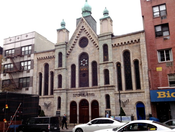 Town & Village Synagogue on East 14th Street (Photo by Maria Rocha-Buschel)