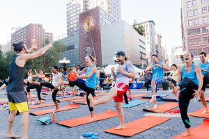 Fitness classes are part of the Summer in the Square program. (Photo courtesy of Union Square Partnership)