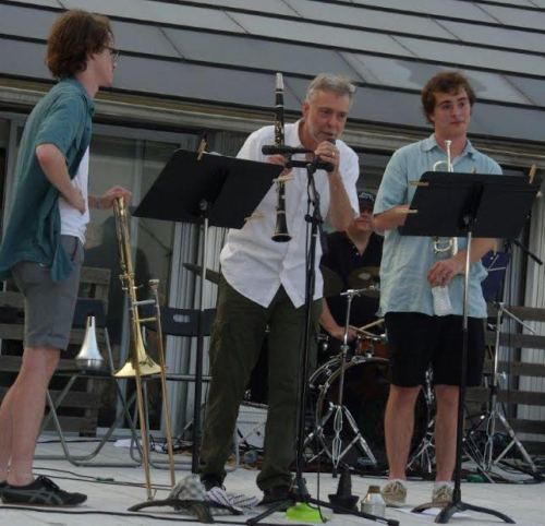 The Rutkowski Trio at a concert last year at Stuyvesant Cove Park