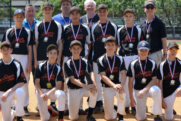 Peter Stuyvesant Little League juniors team The Gashouse Gang (Photo by Susan Crawford)