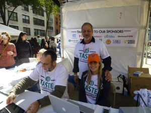 Gramercy Neighborhood Associates volunteers at last year's event including Gary Horowitz, GNA President Alan Krevis and Antonella Napolitano