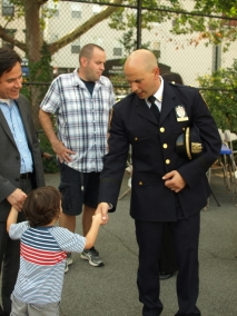Captain Steven Hellman and City Councilman Dan Garodnick's son Asher