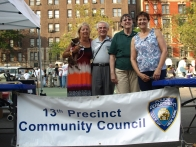 Carol Schachter, Frank Scala, Pat Salin and JoAnn Polise of the Community Council