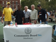 Community Board 6 members Gene Santoro, Aaron Humphrey, Frank Scala, Rick Eggers and Claude Winfield