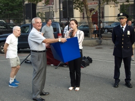 Frank Scala and Rebecca Lynch from the Mayor's office