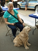 East 26th Street resident Barbara Terpo with her dog Charlie