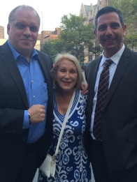 Arlene Harrison with NYPD Detective Christopher Stafford and Lt. John T. Meier