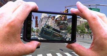 An app of an alternate reality on 14th Street, created by John Craig Freeman, will be one of the featured works in the annual Art in Odd Places festival, running from October 9-12. (Photo courtesy of John Craig Freeman) An app of an alternate reality on 14th Street, created by John Craig Freeman, will be one of the featured works in AiOP. (Photo courtesy of John Craig Freeman)