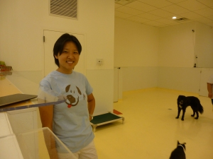 Happy Dogs owner Jennifer Cheng at the First  Avenue facility in 2013 (Photo by Sabina Mollot)