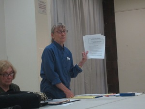 East Midtown Plaza resident Jeanne Poindexter, who is staunchly against privatizing the property (Photo by Maria Rocha-Buschel)