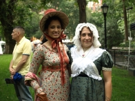 Kanushree Jain (left) and Ella Yenigun of the Madison Square Park Conservancy (Photo by Maria Rocha-Buschel)
