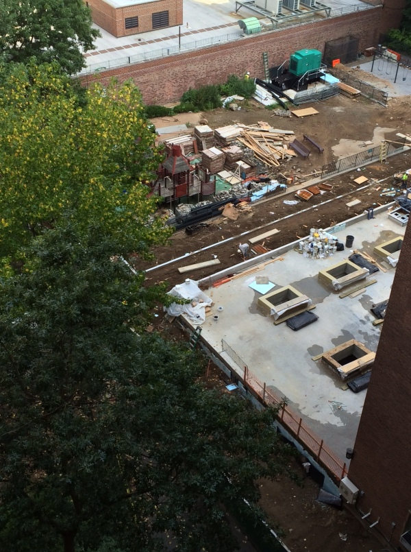 A view of the  future management office on September 2 (Photo by Michael Alcamo)