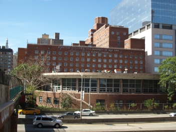 Hunter College's Brookdale Campus, site of the proposed sanitation garage (Photo by Maria Rocha-Buschel)