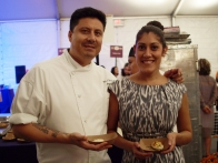 Blue Water Grill Executive chef Luis Jaramillo and special events manager Vanessa Arroya