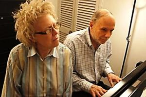 """Linsey Abrams wrote the libretto to """"Rappaccini's Daughter"""" while longtime musical partner Michael Cohen wrote the music. (Photo by Eugenia Volkes)"""