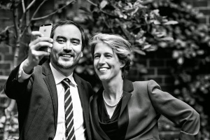 Zephyr Teachout with running mate Tim Wu, candidate for lieutenant governor (Photo courtesy of campaign)