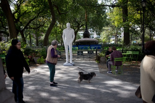 Edward Snowden statue at Union Square Park (Photo by Brian Wagner)