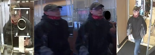 Surveillance photos of bank robbery suspect, who police say passed notes demanding cash