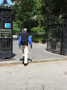 Tree and park activist Michael Alcamo has been pushing the city to install a ramp for disabled park goers at the park's entrance. (Photo by Michael Alcamo)