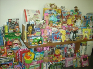 Some of the donated toys from a previous T&V drive