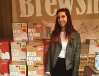 Brielle Schiavone at Brooklyn Brewshop, a maker of beer and cider home-brewing gifts