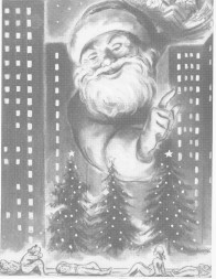 This Edward Caswell illustration ran originally in Town & Village in 1951 and has also run in many other Christmas week issues since then.