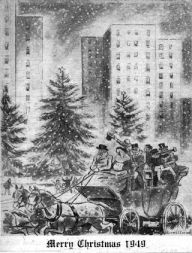 In 1949, Town & Village's staff artist Edward Caswell created this Christmas-inspired illustration.