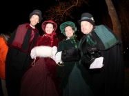 Dickens carollers stroll the complex in 2012. (Photo by Blair Hopkins)