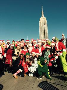 Reveler's from NYC's Santacon