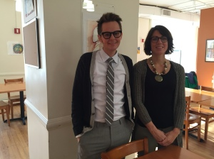 Project ORE Associate Director Jackson Sherratt and Director Tara Rullo at the center's dining room (Photo by Sabina Mollot)