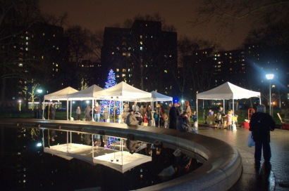 Residents gather at this year's menorah lighting. (Photo by Michelle Lee Photography)